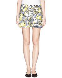 Erdem 'Emi' Lemon Garden Print Shorts - Lyst