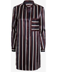 Joseph College Striped Satin Shirt Dress - Lyst