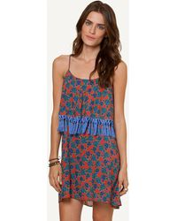 ViX Iva Ruffle Back Short Dress - Lyst