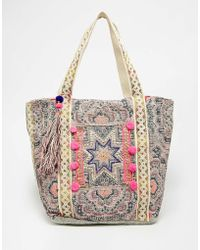 Warehouse - Star Embroidered Shopper - Lyst