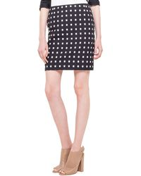 Akris Punto Square Dotted Jacquard Short Skirt - Lyst