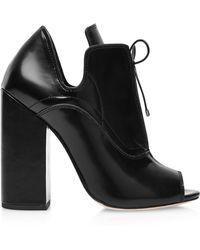 Ellery Boardwalk Leather Ankle Boots In Black - Lyst