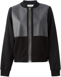 Balenciaga Black Bomber Cardi-coat - Lyst
