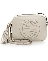 Gucci Soho Leather Disco Bag white - Lyst