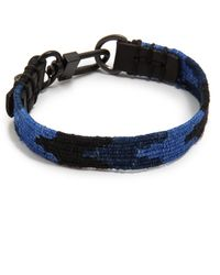 Caputo & Co. Handwoven Ribbon Bracelet - Lyst