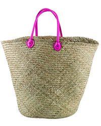 San Diego Hat Company Women'S Pop Handle Seagrass Bag - Lyst