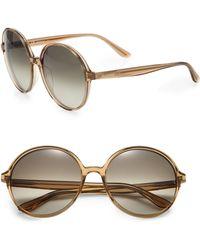 Valentino   Thin Glam 59mm Large Round Sunglasses   Lyst