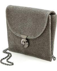Lauren Merkin Glitter Piper Cross Body Bag Pewter - Gray