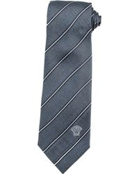 Versace Checked And Striped Silk Tie - Lyst