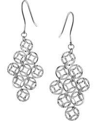 Lord & Taylor - Filigree Diamond Drop Earrings - Lyst