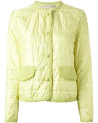 Ermanno Scervino Contrasting Trim Quilted Jacket - Lyst