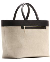 Victoria Beckham Liberty Inside Out Canvas and Leather Tote - Lyst
