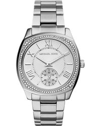 Michael Kors Bryn Stainless Steel Glitz Watch - Lyst