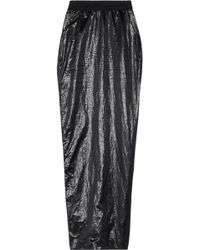 Rick Owens Soft Pillar Metallic Shell Maxi Skirt - Lyst