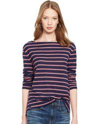 Polo Ralph Lauren Striped Long-Sleeved Tee - Lyst
