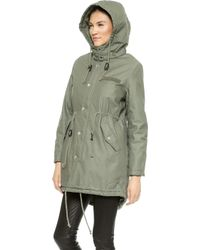 Cheap Monday Wanted Parka - Army Green - Lyst