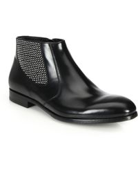 Alexander McQueen   Studded Leather Chelsea Boots   Lyst