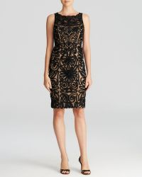 Sue Wong Dress - High Neck Soutache Sheath - Lyst