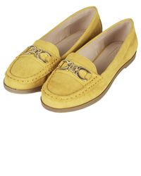 Topshop Latte Loafers  Mustard - Lyst