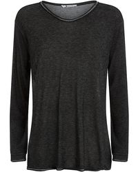 T By Alexander Wang Slouchy Long Sleeve T-Shirt - Lyst