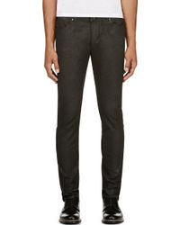 Diesel Black Gold Black Coated Skinny Type_241 Jeans - Lyst
