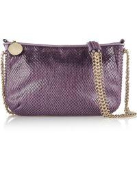 Stella McCartney Faux Python Shoulder Bag - Lyst