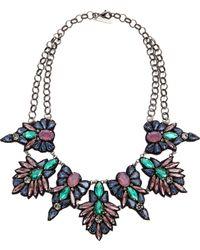 Deepa Gurnani Stone and Crystal Necklace Bluelavender - Lyst