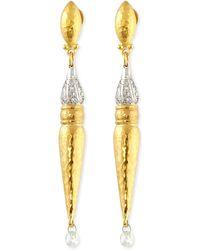 Gurhan - Sultan Sleek 24K Gold And Diamond Earrings - Lyst