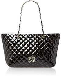 Love Moschino Black Exclusive Patent Quilt Large Tote Bag - Lyst