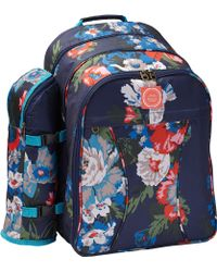 Joules - Floral Filled Picnic Backpack - Lyst