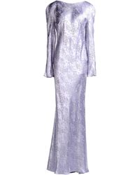 John Galliano Long Dress purple - Lyst