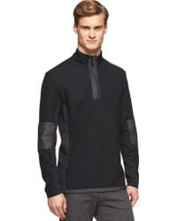Calvin Klein Mix Media Jacquard 14 Zip Pullover with Hidden Hood - Lyst
