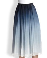 Burberry Prorsum DegradÉ Silk Skirt - Lyst