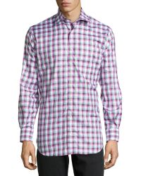 Peter Millar Plaid Button-down Shirt - Lyst