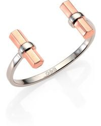 Giles & Brother Twotone Double Hexagon Cuff Bracelet - Lyst