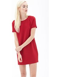 Forever 21 Seam-Stitched Shift Dress - Lyst