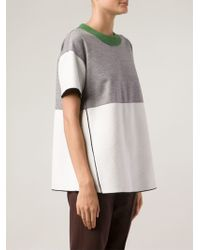 Derek Lam Patchwork T-shirt - Lyst