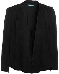 Alice + Olivia Livia Suede and Stretch-wool Jacket - Lyst