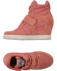 Ash Pink High-tops  Trainers - Lyst