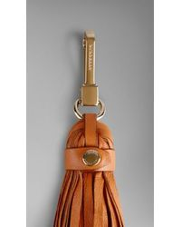 Burberry Leather Tassel Key Charm - Lyst