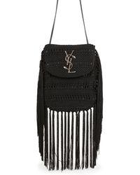 Saint Laurent | Anita Flat Crocheted Crossbody Bag | Lyst