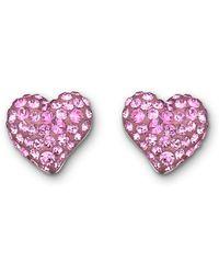 Swarovski Eros Heart Stud Earrings - Lyst