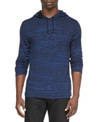 John Varvatos | Space-Dyed Knit Pullover Hoodie | Lyst