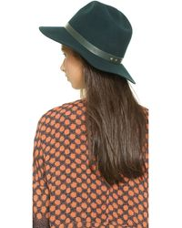 Janessa Leone Charles Hat - Forrest Green - Lyst