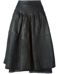Andrea Ya'aqov - Volume Flared Skirt - Lyst