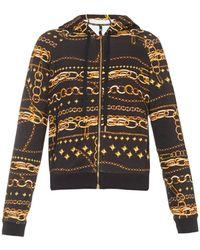 Versus  Chain-print Hooded Sweatshirt - Lyst