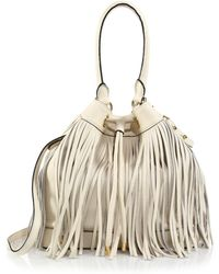 Milly Essex Fringed Crossbody Bag white - Lyst