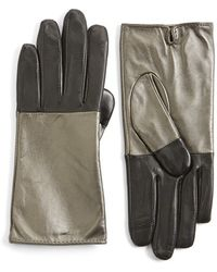 Echo - 'touch - Colorblock' Leather Gloves - Lyst