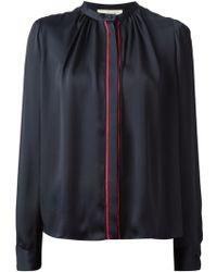 Vanessa Bruno Trimmed Concealed Button Fastening Shirt - Lyst