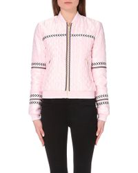 Juicy Couture Quilted Satin Jacket - For Women pink - Lyst